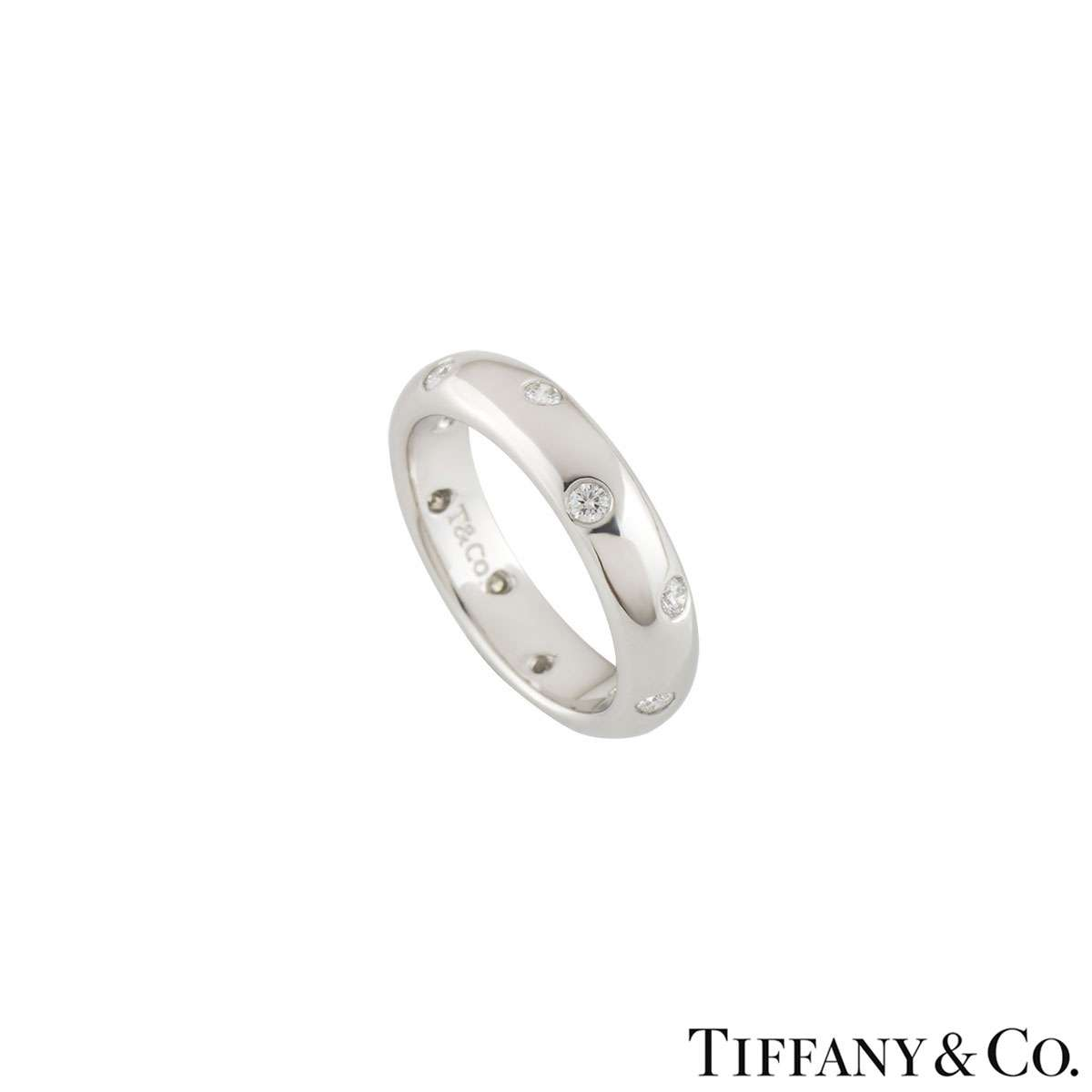 Tiffany & Co. Platinum Etoile Band Ring 0.22ct